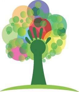 hand nonprofit tree